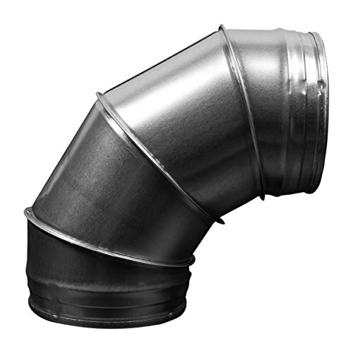 Duct Connector -Elbow- Dryer Vent Pipe Elbow Metal Tube for HVAC (6