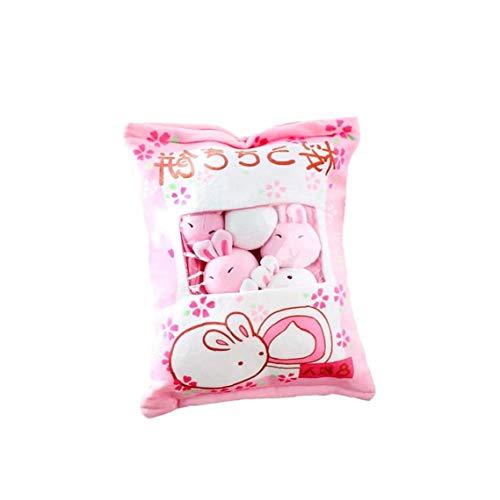 Almohada, Almohada, felpa conejo Pudín Almohada, muñeca de juguete Mini Snacks sofá suave almohada Para el hogar Decoración Sofá 1 Bolsa meriendas mini muñecas almohada, creativo felpa conejo Pudín