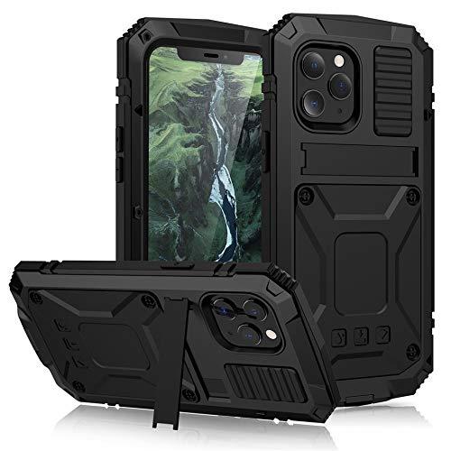RZL Teléfono móvil Fundas Para iPhone Pro Max 12 12 MINI, la caja de protección a prueba de polvo a prueba de golpes pata de cabra caja de vidrio templado de metales pesados de silicona Para el iPho