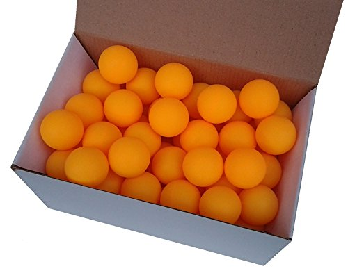 Der Sportler GmbH 75 Tischtennisbälle 38mm ohne Aufdruck orange stabiles Material