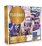 VIVABOX Caja Regalo -FELICIDADES- 3.400 Actividades memorables. Incluye: un Juego de 2 Tazas Originales con Platos de Madera