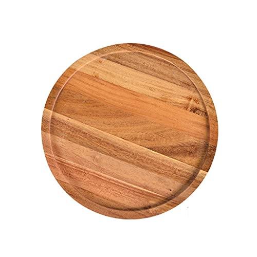 Bandeja giratoria de madera de la bandeja de la bandeja de la bandeja de la bandeja de la bandeja de la bandeja de la bandeja de la bandeja de la bandeja de la bandeja del partido, 20.4 * 20,4 cm / 24