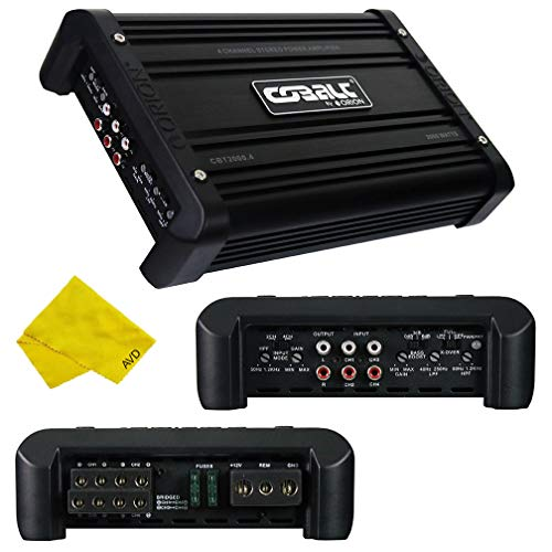 Orion Cobalt 4 Channel Amplifier – Class A/B Multichannel Amplifier 1000W RMS 2000W Max, Car Electronics Car Audio Stereo Subwoofer 2 Ohm Stable Bass Boost MOSFET Amplifier for Car Speakers Sub Amp