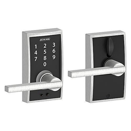 Schlage Touch Century Lock with Latitude Lever (Satin Chrome) FE695 CEN 626 LAT