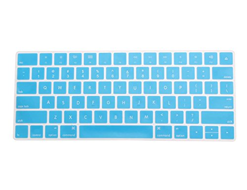 COOSKIN Silicone Colorful Keyboard Cover Protector Skin for Apple Magic Keyboard (MLA22LL/A), After 2015 November US Layout (Blue)