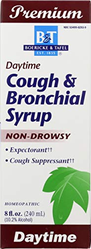 Boericke & Tafel Daytime Cough & Bronchial Syrup Non-Drowsy Homeopathic 8 Oz. (Nature's Way Brands)