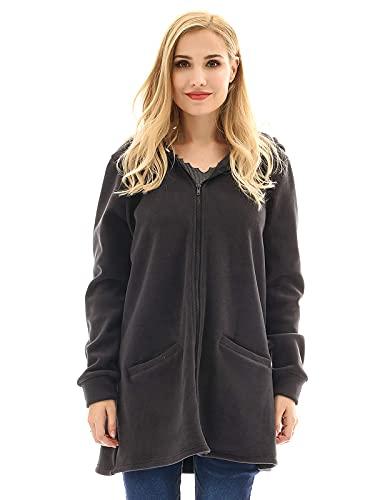 Bearsland Women's Babywearing Pregnancy Jacket Coat Fleece Maternity Baby Carrier Hoodie Sweater,newblack,XL