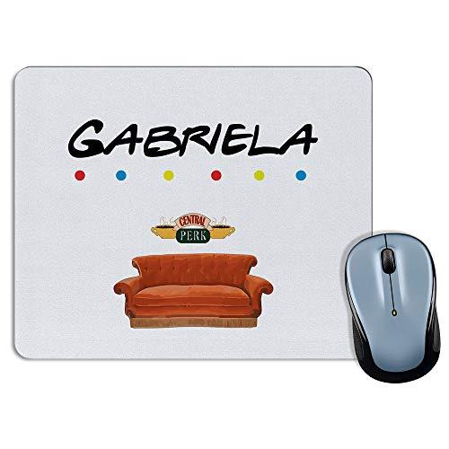 LolaPix Alfombrilla Raton Friends Personalizada con Nombre. Regalos Personalizados para Fans. Varios Modelos. 18x22cm. Rectangular. Friends
