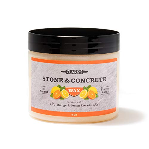 Soapstone Slate and Concrete Wax (6 Ounce) by CLARK'S - Enriched with Lemon & Orange Oils - Made with Natural Beeswax and Carnauba Wax - Stone Countertop Wax