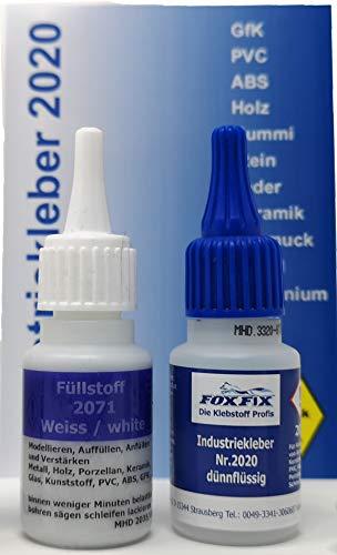 FoxFix 3D Schweißnaht Profi Profi Reparatur PVC Kleber Set für Kunststoff (PVC ABS GfK PLA), Keramik, Porzellan, Stein, Holz, Gummi