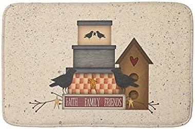 Bathlink Quick-Dry, Super Absorbent Anti-Slip Resistant Bathroom Mat Soft Bath Rug and Shower Carpet Primitive Faith Family F