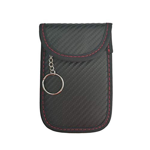Preisvergleich Produktbild JIUY Auto-Schlüssel-Signal-Blocker-Farada... Keyless Fob RFID Blocking Pouch Case (schwarz)
