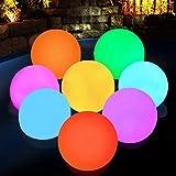 DeeprBlu Floating Pool Light, Bathtub RGB Color Changing Pond Led Ball Hot Tub Lights, IP68 Waterproof Pool Light up Ball for Bath Hot Tub Shower Spa Swimming Pond Party Gift (4pcs)
