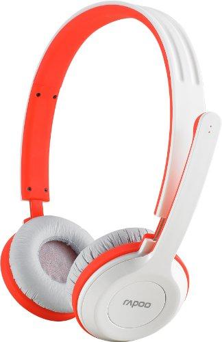 Rapoo H8030 Wireless Stereo Headset/ Kopfhörer (2,4 GHz, klappbares Mikrofon) rot