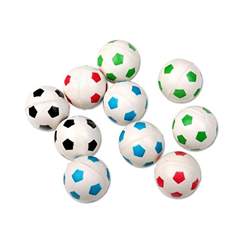 Schramm® 10 Piezas Goma Bolas Rebote diseño fútbol