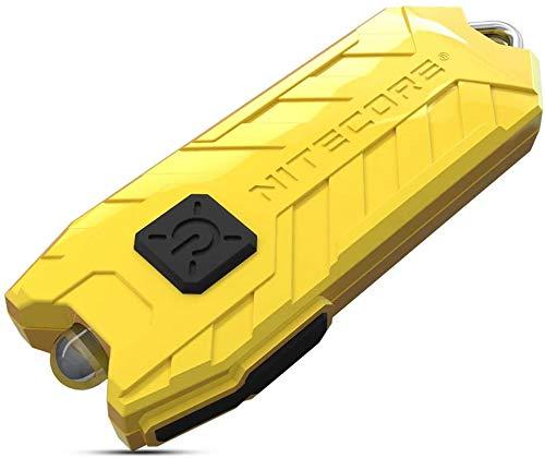 Nitecore TUBE Linterna Llavero V2.0 - Recargable USB 55 Lúmenes - [Nueva Versión 2020] [LEMON]