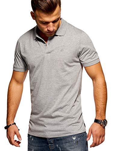 Jack & Jones Polo Homme Chemise Manches Courtes Shirt T-Shirt Haut Unicolore (XX-Large, Light Grey Melange)