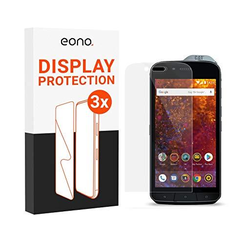 Amazon Brand – Eono Schutzglas kompatibel mit CAT S61 - HD Bildschirmschutz gegen Bildschirmbruch, Kratzer - Hüllenfre&lich, 2.5D, 9H Stärke - 3 Stück