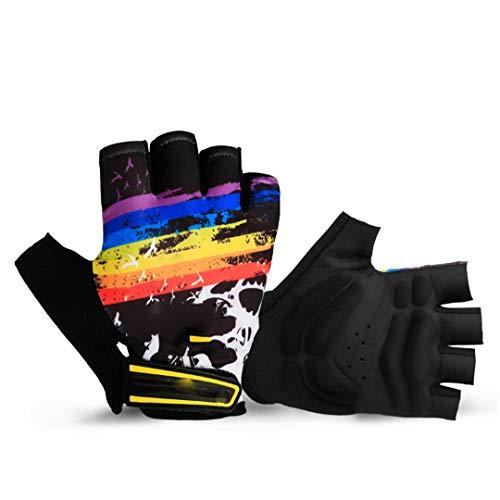 BSDASH Cycling Gloves Half Finger Men Women Summer MTB Bike Gloves Road Mountain Breathable Shockproof Bicycle Gloves Black L