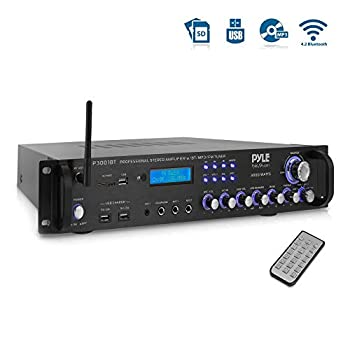 Pyle Bluetooth Hybrid Amplifier Receiver - Home Theater Pre-Amplifier with Wireless Streaming Ability MP3/USB/SD/AUX/FM Radio  3000 Watt