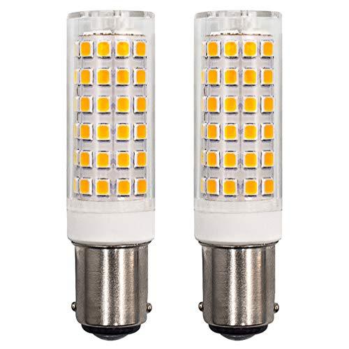 B15D LED Lampe Glühlampe 6W Dimmbar Warmweiß 3000K Ersatz für 60W Halogenlampen AC 220-240V 360 Grad Winkel, für Nähmaschinenlampe, Deckenventilatorbirnen 2-er Pack [MEHRWEG]