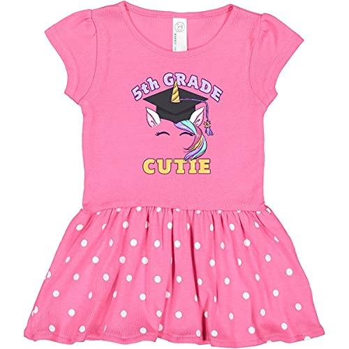 inktastic 5th Grade Cutie Toddler Dress 4T Raspberry with Polka Dots 3b6ed