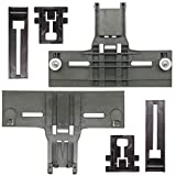 UPGRADED New Polymer Material W10350376 Dishwasher Top Rack Adjuster & W10195839 Rack Adjuster & W10195840 Dishwasher Positioner Fit For Whirlpool Kenmore - Redesigned for Heavy Duty Wheel Support