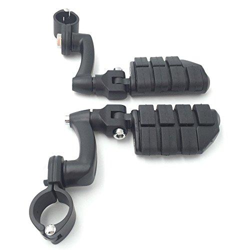 XKH Gruppe schwarz Motorrad Verstellbar DUALLY Highway p-clamps groß FOOTPEG Fußstütze für Harley Davidson Sportster 8831200Street Bob Softail CVO ausgestattet 1–1/5,1cm (3,8cm) Front Motor Guard