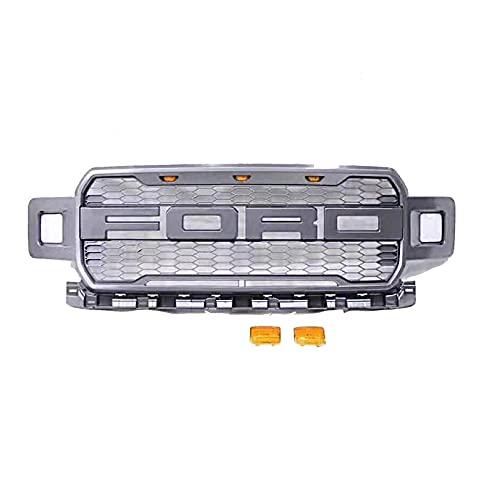 WUDAXIAN Rejilla del radiador del Parachoques Delantero del Coche, Parrilla de Entrada de Aire Delantera ABS para Ford F150 2018 2019 2020 Raptor, Accesorios modificados