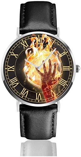 Mire los Relojes de Pulsera Shooting and Flame Amazing de Cuarzo, Acero Inoxidable y Cuero de PU para Unisex