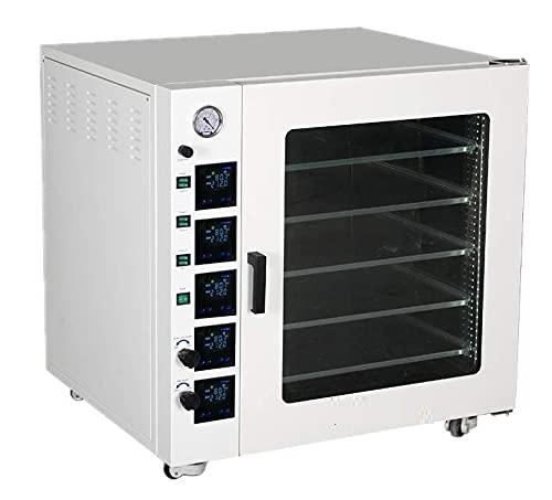 Tigremart Lab 7.5cf Vacuum Oven, RT+10~250°, 5 Shelves, Stainless Steel Chamber