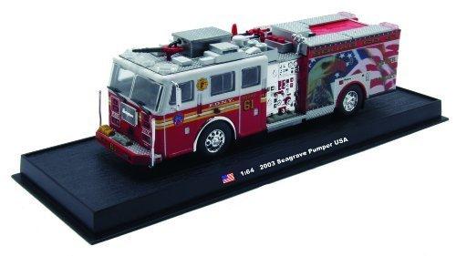Seagrave Pumper Fire Truck Diecast 1:64 Model (Amercom GB-6)