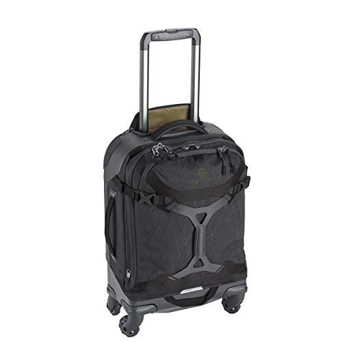 Eagle Creek Gear Warrior International Carry Luggage Softside 4-Wheel Rolling Suitcase, Jet Black, 21 Inch