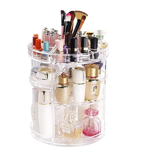 JIAN MIAO SHU LHX Cosmetic Storage Box, Display Cabinet Can be Adjusted 360 Degrees Rotation, Large Capacity 6 Layers, Suitable for Face Cream, Makeup Brush, Lipstick and So on.