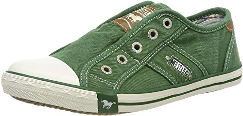 MUSTANG Damen 1099-401-709 Slip On Sneaker, Grün (Grasgrün 709), 37 EU