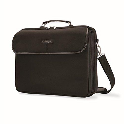 Kensington Laptop Case - Simply Portable 15.6 Inch Clamshell Case for Laptop - Black Laptop Case for Men & Women, Carry Handle & Shoulder Strap (K62560EU)
