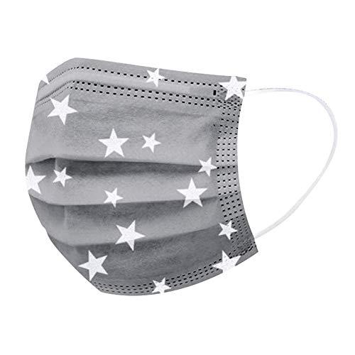 Qinlee. 100 Stück Erwachsene graue Sternenturbane, atmungsaktives Stirnband, weiches Material mit Ohrriemen