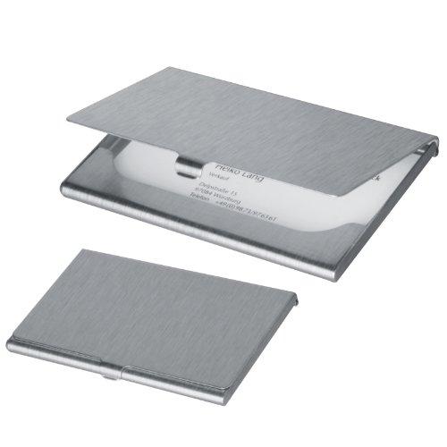 Portabiglietti da visita da borsa o tascabile economico in alluminio