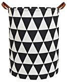 HIYAGON Large Sized Storage Baskets with Handle,Collapsible & Convenient Home Organizer Containers for Kids Toys,Baby Clothing (Inverted Triangle)