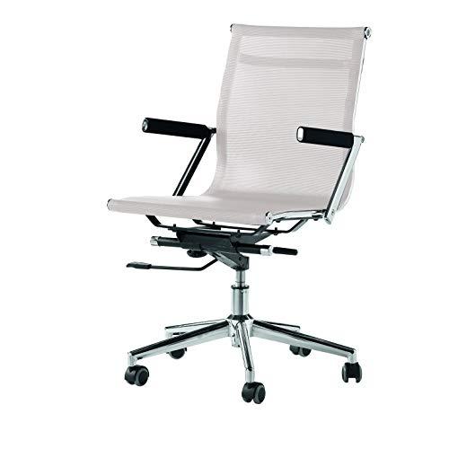 SHIITO Silla de Oficina con Estructura de Cromo. Color Blanca.