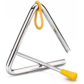 Kids Toy Percussion Musical Instrument Triangle Beater Educational Preschool
