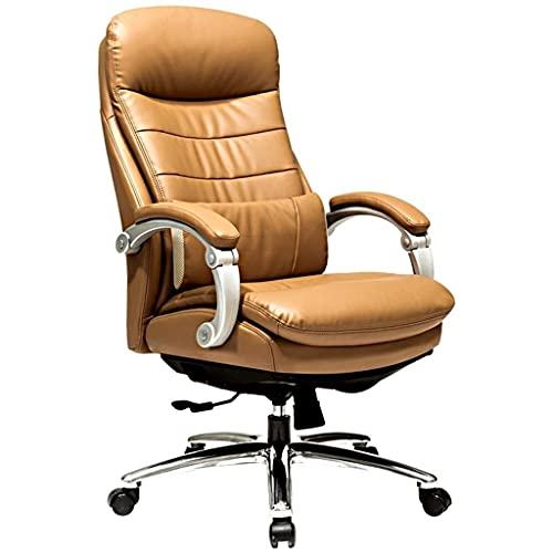 XKUN Chair Liegestuhl Computer Chair Study Chair Drehstuhl Heben Nach Hause Einfacher Bürostuhl Bequemes Liegen,Braun,67 * 48 * 123 cm