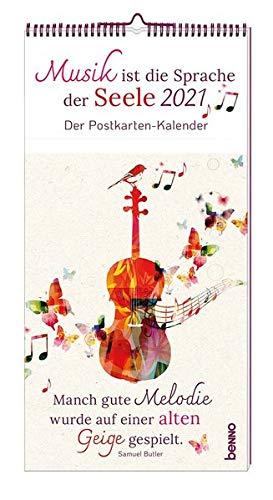 Musik ist die Sprache der Seele 2021: Der Postkarten-Kalender