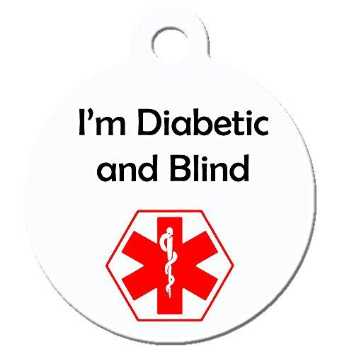 Big Jerk Custom Products Ltd Medical Alert Dog Cat Pet ID Tag - I'm Diabetic and Blind - Personalize Colors