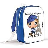 sac à dos grand modèle 'quand je serai grand j'irai à Paris'