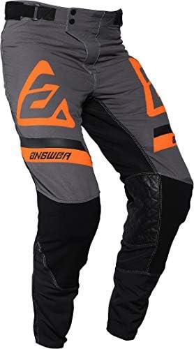 Answer Mens Charcoal//Grey//Orange Syncron Voyd Dirt Bike Pants MX ATV 2020
