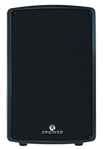 XPOWER Bocina amplificada 8″ Semi Profesional Color Negro de 12,000 Watts.