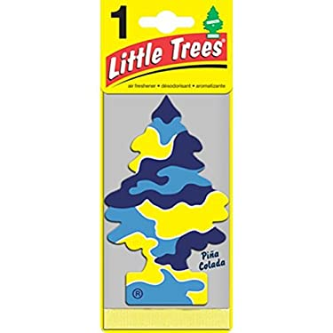 Little Trees Hanging Car and Home Air Freshener, Pina Colada (Pack of 3)