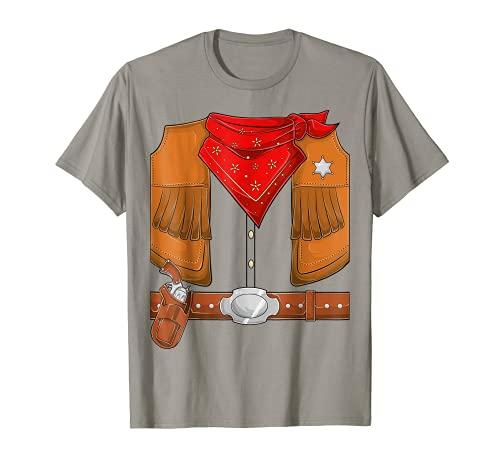 Cowboy Halloween Costume Men Women Kids Cowboy sherif T-Shirt