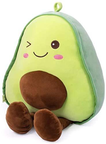 Aujelly Nettes Plüsch-Avocado-Kissen Gefüllt Animal Sweet Cuddle Cotton Fruit Stuffed Toy Soft Cartoon Geburtstagsgeschenke für Kinder 45 cm